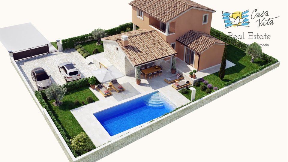 House, 130 m2, For Sale, Buje - Kaštel