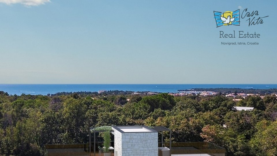 For sale is a beautiful villa of modern architecture, 2km from Poreč and 1.5km from the sea.