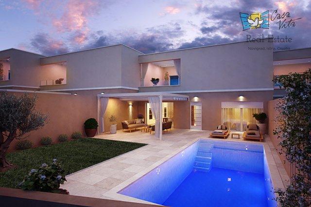 Moderne Häuser zum Verkauf in der Nähe von Umag, 900 m vom Meer entfernt!