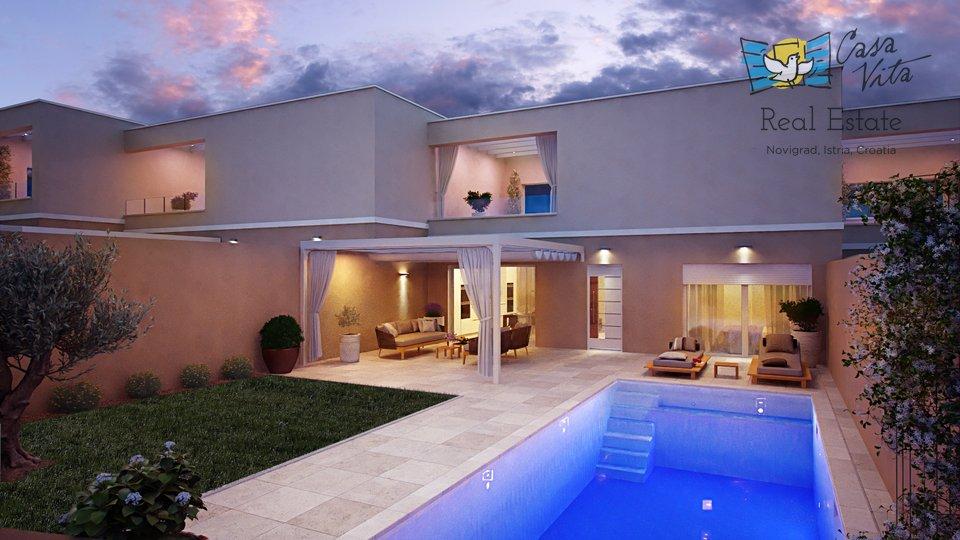 Moderne hiše na prodaj v bližini Umaga, 900m od morja!