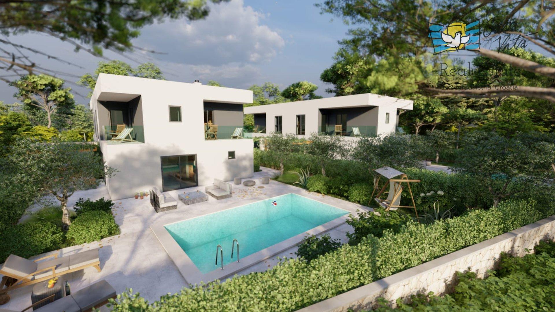 Moderne Häuser im Bau 1 km vom Meer und der Stadt Porec entfernt!