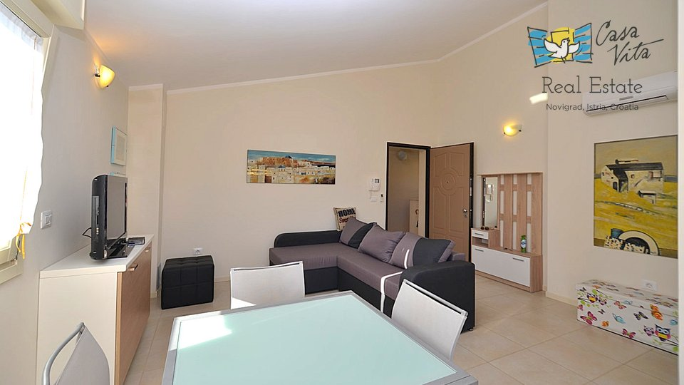 Spacious and beautiful apartment in Novigrad, 1000m from the sea!