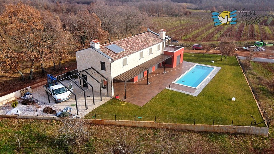Beautiful designer villa near Vižinada, 15km from the sea!