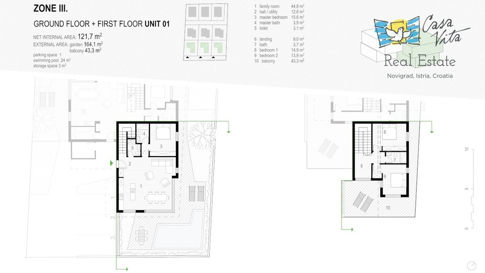 Stanovanje, 121 m2, Prodaja, Novigrad