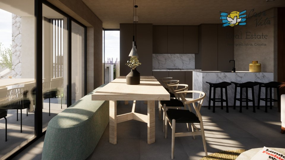 House of modern architecture in a top location, 2km from the sea!