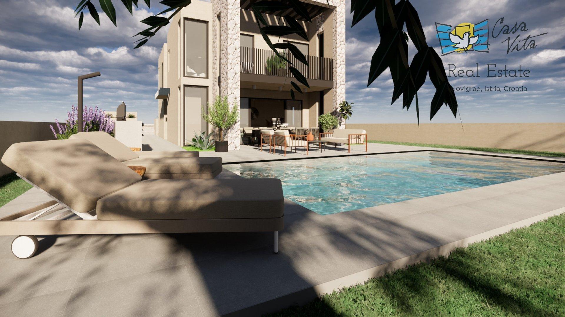 Kuća moderne arhitekture na top lokaciji, 2km od mora!