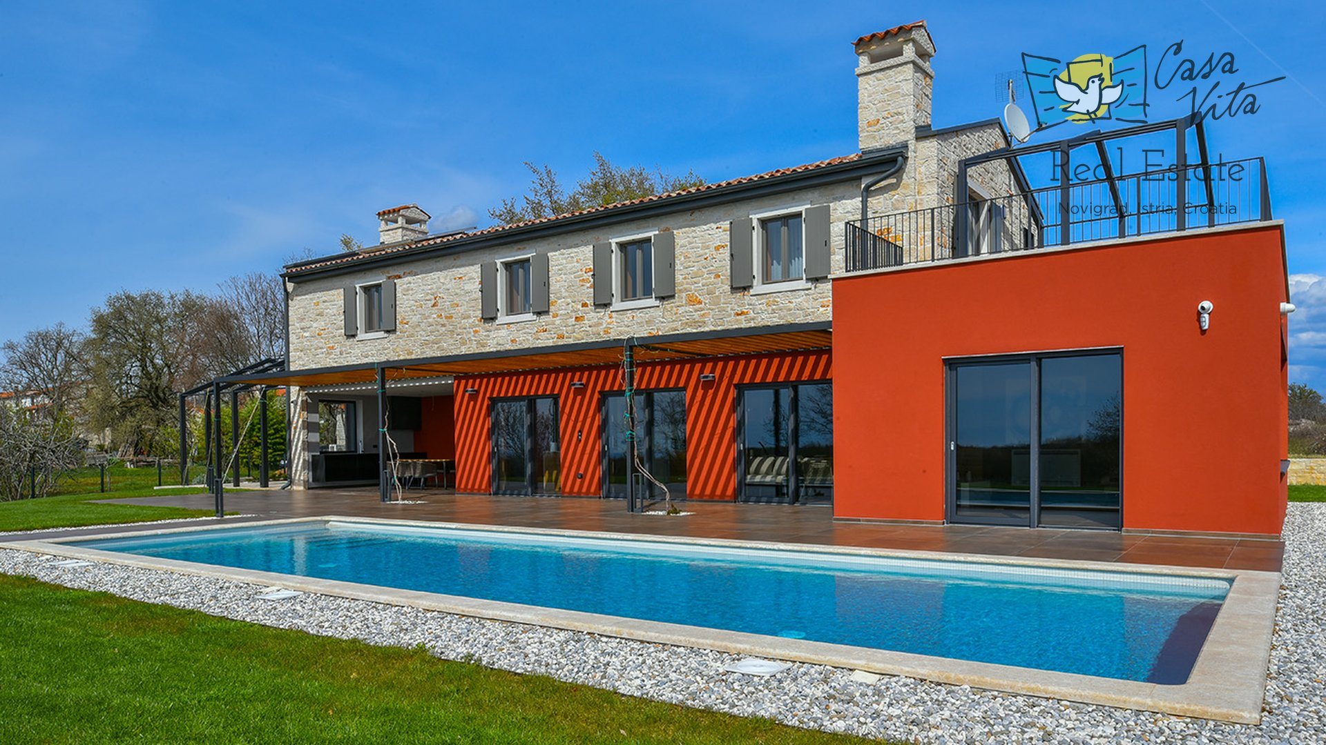 Predivna dizajnerska vila nadomak Vižinade, 15km od mora i grada Poreča!