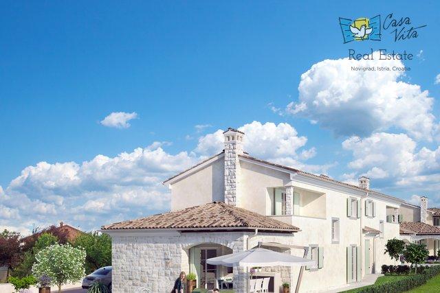 Kuća sa bazenom u izgradnji 3km od grada Novigrada!