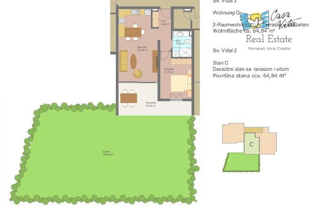 Wohnung, 64 m2, Verkauf, Novigrad
