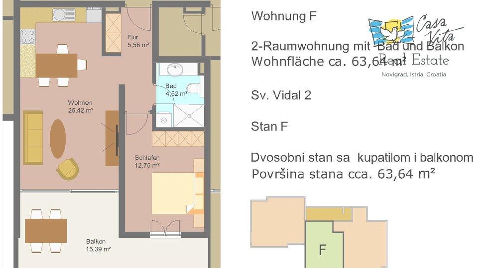 Stanovanje, 63 m2, Prodaja, Novigrad