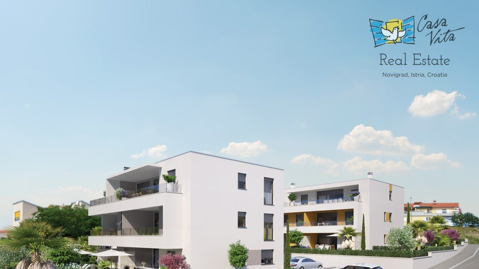 Beautiful apartment in Novigrad, 700m from the beach