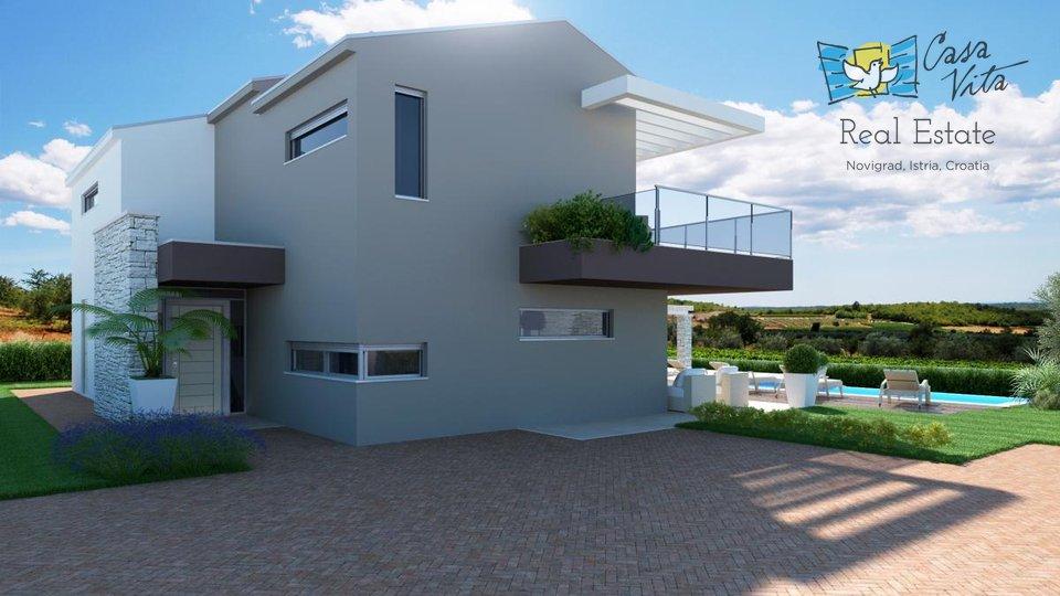 Prekrasna moderna vila sa predivnim pogledom na more, 15km od mora!
