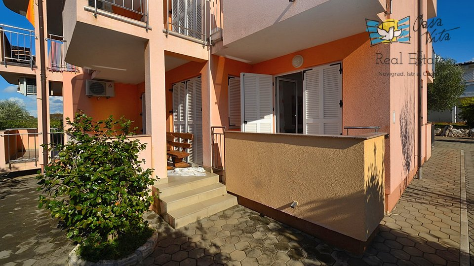 Ground floor apartment with sea view, 1000 m from the sea!