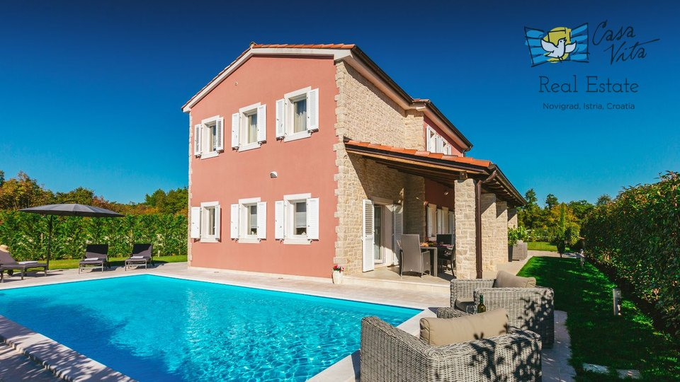 Žminj, 11 km: new house with swimming pool, BBQ and large infield