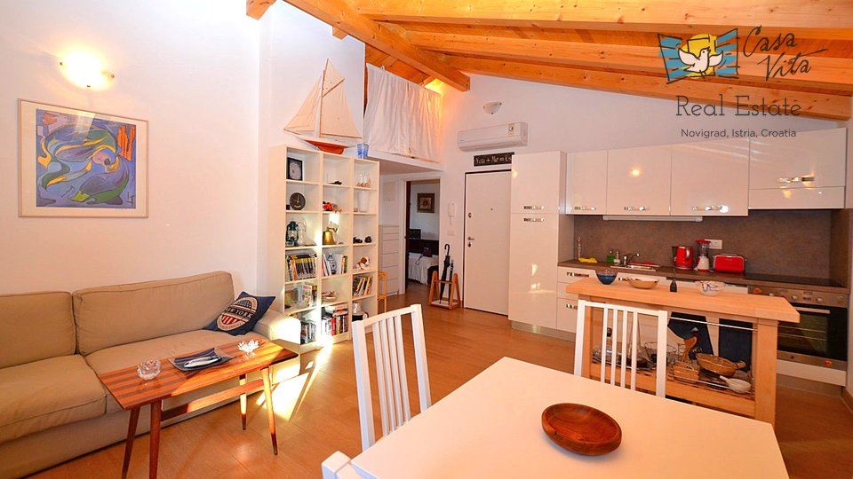 Beautiful apartment in centre of Novigrad, 50m from the beach!